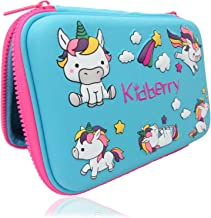 Pencil case for Kids, Kidberry Pencil case for Kids,Pencil Pouch, Girls Pencil case for School, Cute Unicorn 3D Design Pen...