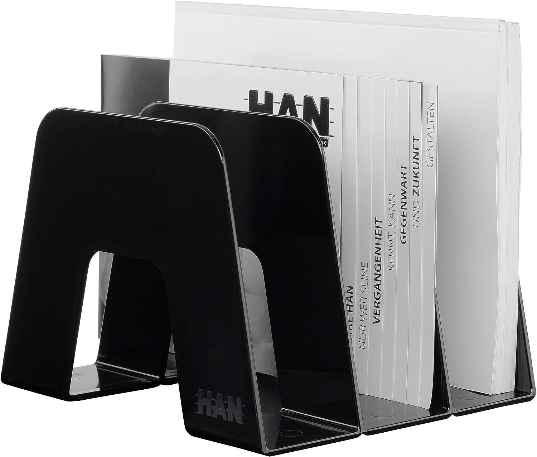 HAN Katalogsammler SORTER 16200-12 wei/ß Design-Ikone f/ür das moderne Umfeld 2 ST/ÜCK Praktischer Katalogsammler mit 3 F/ächerunterteilungen