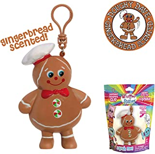 Whiffer Squishers Doughy Dave Slow Rising Squishy Toy Christmas Gingerbread Scented Backpack Clip
