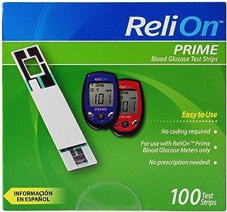 ReliOn نخست نوار قلب خون، 100 تعداد، بسته تک