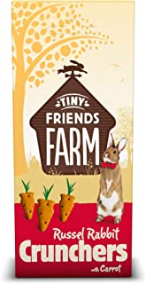 TINY FRIENDS FARM Supreme Russel Premium Crunchers Carrot Healthy Baked Bites for Rabbits 4.2z