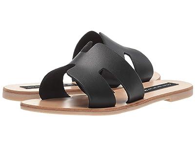 STEVEN NEW YORK Greece Sandal (Black Leather) Women