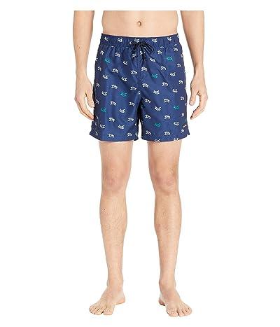 Perry Ellis Printed Swim Shorts (Medieval Blue 2) Men