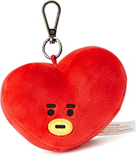 BT21 Official Merchandise by Line Friends - TATA Character Doll Face Keychain Ring Cute Handbag Accessories
