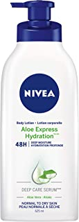 NIVEA Aloe Express Hydration 48H Deep Moisture Body Lotion for Normal to Dry Skin (625ml), Body CreamEnriched with Aloe Ve...