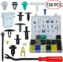 Auto Body Retainer Clips Door Trim Panel Clip Plastic Fasteners Push Rivets Set 17 Kinds Most Popular Sizes 730PCS Bumper Fender Clips With 1 Fastener Remover For BMW Toyota VW Subaru And Volvo