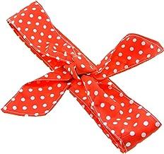 clarigo Haarband Stirnband Headband Hairband Haarschmuck Polka dots gepunktet rot weiß Haarspange Haargummi