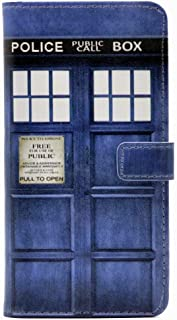 iPhone Xs Case, Doctor who Tardis Police Call Box Pattern Leather Wallet Credit Card Holder Pouch Flip Stand Case Cover for 5.8 inch Apple iPhone X,iPhone Xs (2018)