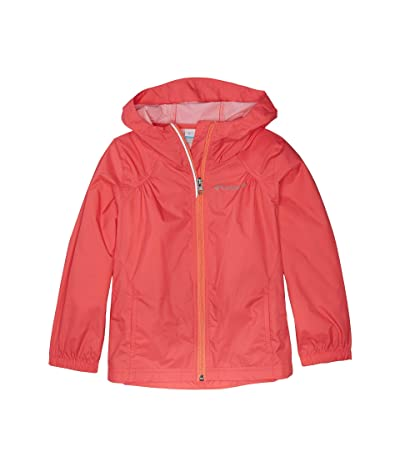 Columbia Kids Switchbacktm Rain Jacket (Little Kids/Big Kids) (Bright Geranium/Hot Coral) Girl