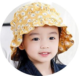 女の赤ちゃんの帽子春と秋の王女の女の子の太陽の帽子秋0-1-3歳児日焼け止めベビーバイザー女性,黄色い花,お勧め1〜3歳