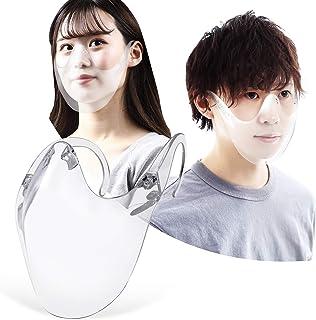 フェイスシールド 透明 マウス ガード 防災 保護 フェース カバー 髪型崩れない 再利用