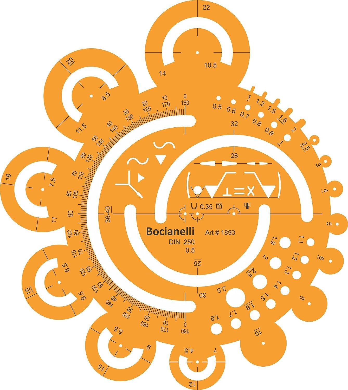 Kreis Schablone Zeichenschablone Technisches Zeichnen Zeichnen Zeichnen - Kreisschablone Kreisbogen Radien B00719LMY6     | Viele Sorten  89a6a4