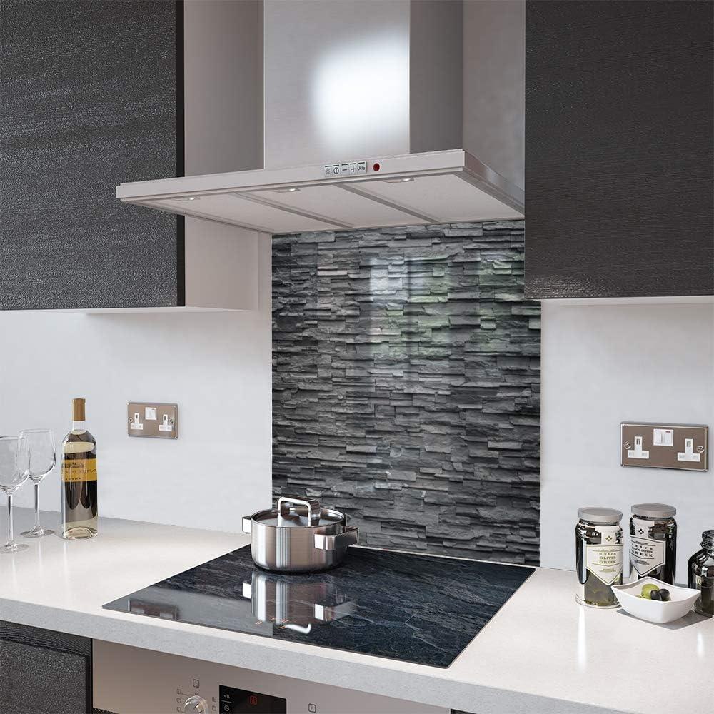 Glass Splashbacks Slate Wall Made By Premier Range In 90cm Wide X 75cm High Amazon Co Uk Kitchen Home