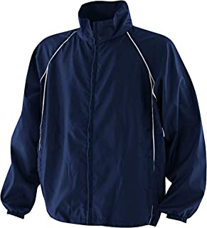 Finden & Hales Mens Piped Showerproof Full Zip Sports Training Jacket