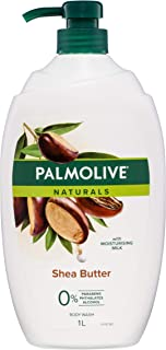 Palmolive Naturals Shea Butter Body Wash With Moisturising Milk 0 percentage Parabens Recyclable, 1L