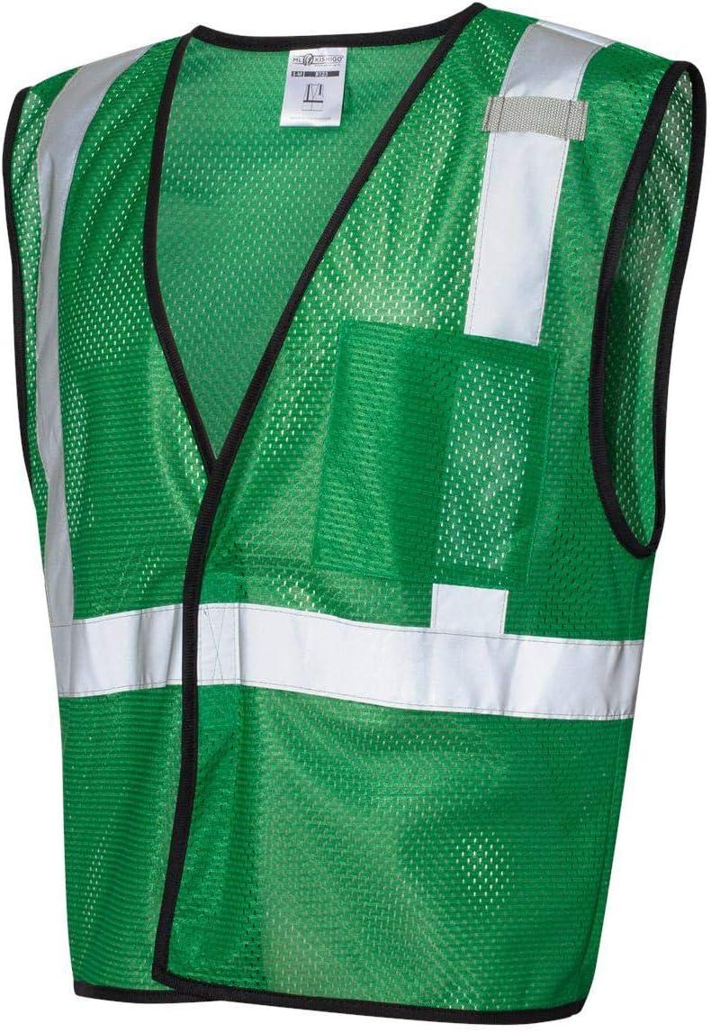 ML KISHIGO Enhanced Visibility Green Mesh Vest B123 (L-XL)
