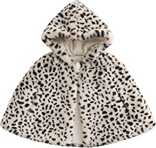 Little Girls' Winter Wool Blend Hoodie Capes Poncho
