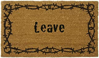 Rubber-Cal Leave Unwelcome Mats, 18 x 30-Inch