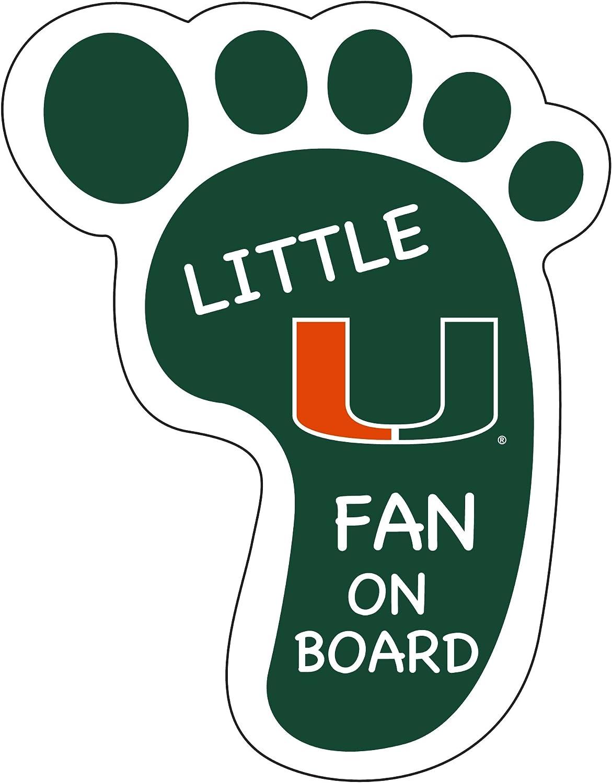 Miami Hurricanes Little Magnet Super-cheap Footprint Fan Superior