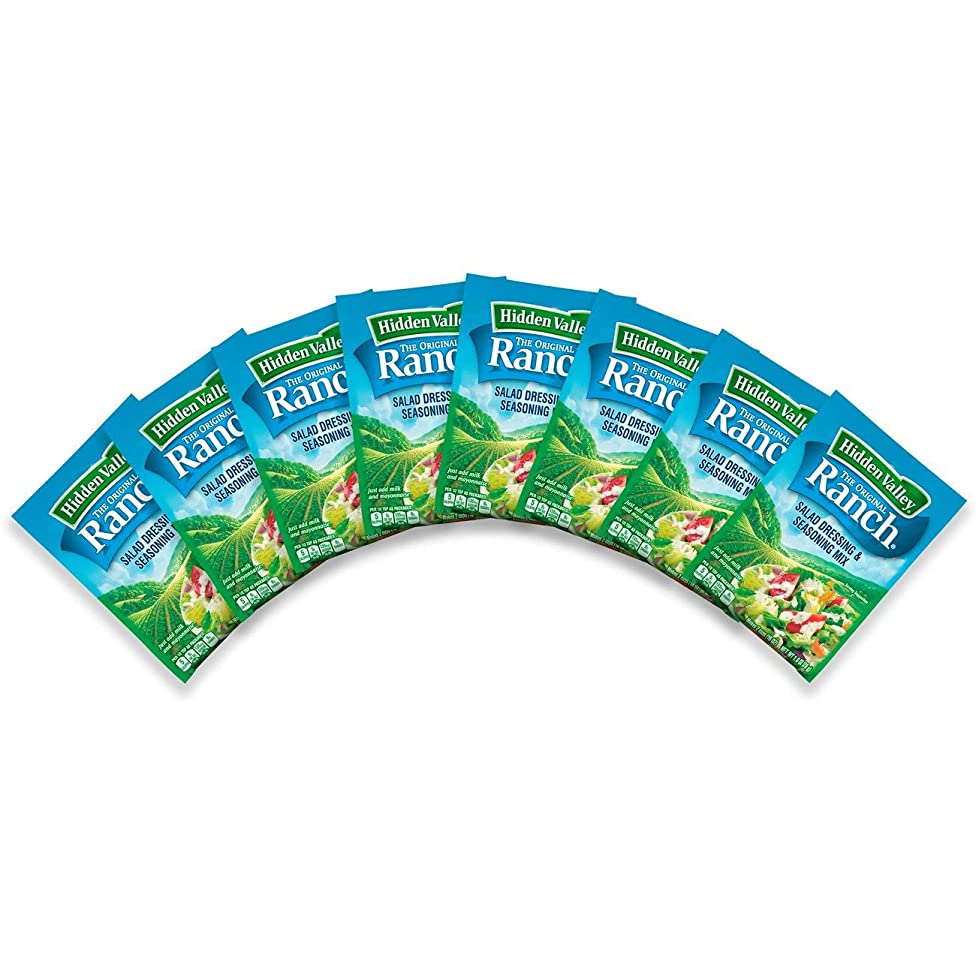 Hidden Valley Original Ranch Salad Dressing & Seasoning Mix, Gluten Free - 8 Packets