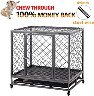 heavy duty indestructible steel dog crate