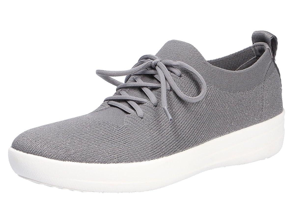 もっと少なく小説FitFlop(フィットフロップ) レディース 女性用 シューズ 靴 スニーカー 運動靴 F-Sporty Uberknit Sneakers - Charcoal/Metallic Pewter 6 M (B) [並行輸入品]