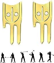 6 in 1 Golf Divot Repair Tool, Metal Golf Divot Tool, Divot Tool/Ball Marker Holder/Ball Line Stencil/Putt Alignment Aid/F...