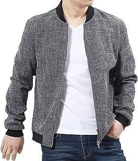 Mens Bomber Jacket Casual Cotton Softshell Sportswear Lightweight Flight Slim Jacket Coat