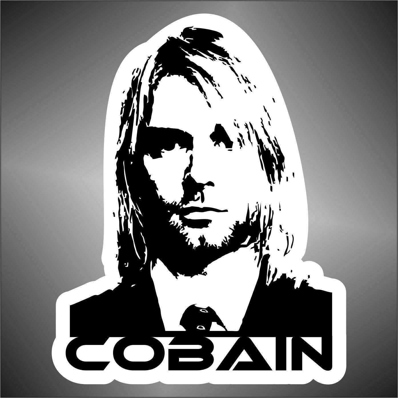 Nirvana Kurt Cobain Sticker Sticker Hip Hop Music Rap Jazz Hard Rock Pop Funk Sticker 30 Cm Küche Haushalt