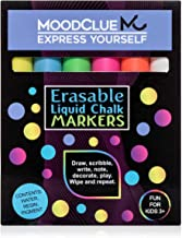 Perfect for windows, glass, car windshields, whiteboards, most chalkboards. 6 bright neon liquid chalk markers. Washable, non-toxic, odorless. Wet or dry erase. Reversible tip - thick or thin.
