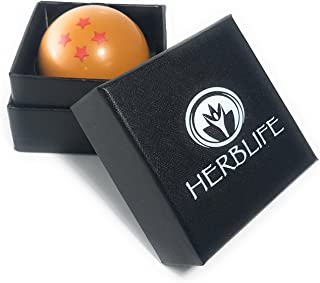 Dragon Ball Herb Grinder By Herb Life - 3 Pieces With Pollen Catcher And Scraper - 2 Inches - With Black Gift Box