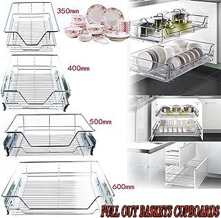 GOTOTOP Organizador Deslizante del Gabinete para Cocina Cesta de Cable Cromado de Almacenamiento para Cajón de Estanterías...