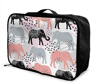 ADGAI Water Geometric Seamless Pattern Canvas Travel Weekender Bag,Fashion Custom Lightweight Large Capacity Portable Luggage Bag,Suitcase Trolley Bag