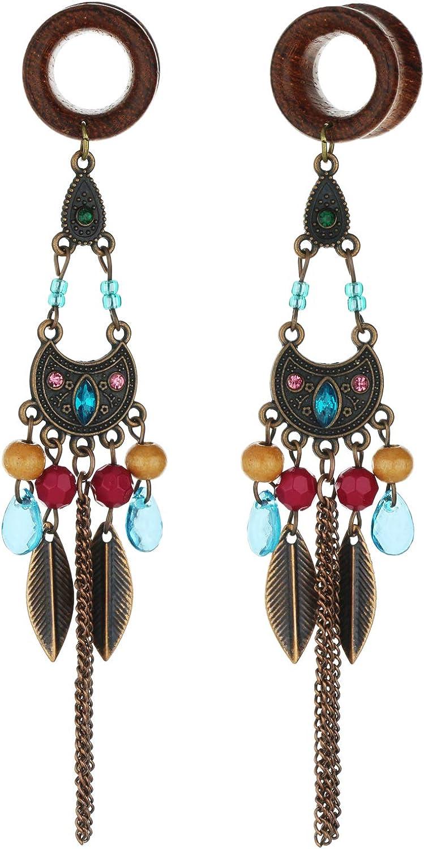 8mm-22mm Bohemia Owl Beads New Shipping Free Shipping Tassel Gauges Ear Piercin Seasonal Wrap Introduction Dangle Wood