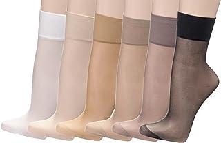 Juego de 10 pares de calcetines finos tipo media, 20 den = 22 dtex, varios colores para elegir, CH-819