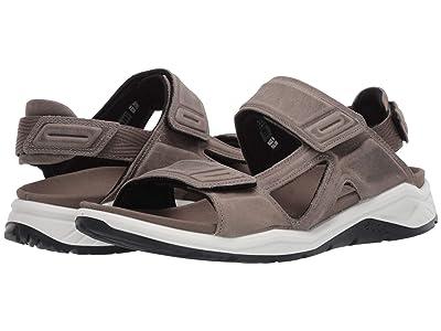 ECCO Sport X-Trinsic Leather Sandal (Warm Grey) Men
