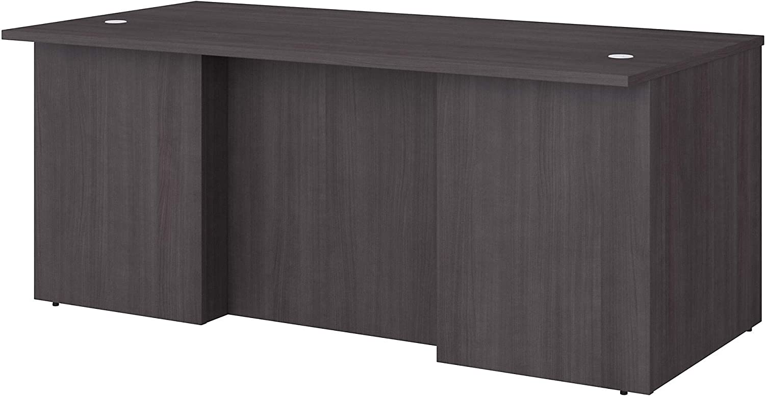 Bush Business Furniture Office 500 Executive Desk with Drawers, 72W, Storm Gray