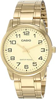 Casio Men's Black Dial Stainless Steel Band Watch - MTP-V001G-9BUDF, Analog