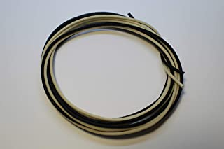 6.1m (10 White/10 Black) Cloth-covered Pre-tinned Pushback 22awg Vintage-style Guitar Wire