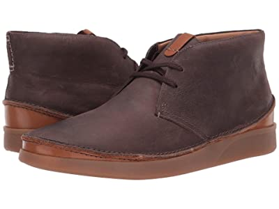 Clarks Oakland Rise (Dark Brown Leather) Men