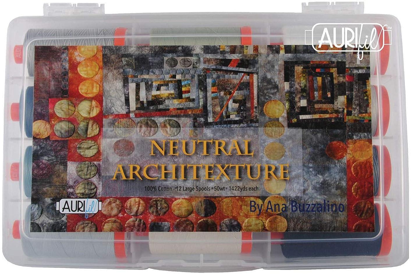 Ana Buzzalino Neutral Architexture Aurifil Thread Kit 12 Large Spools 50 Weight AB50NA12