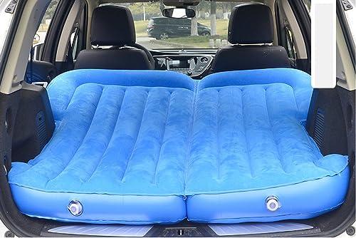 ERHANG Matelas Gonflables Voiture Matelas Pneumatique SUV Lit De Voyage Flocage Camping Lit Gonflable,bleu
