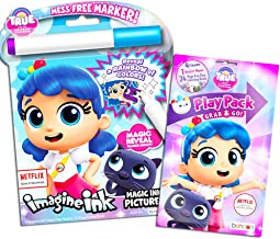 True and the Rainbow Kingdom Coloring Book Set -- Imagine Ink Book, Play Pack and Bonus Owl Stickers (Party Pack)
