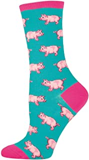 Socksmith Ladies This Little Piggy Sock,Jade,9-11