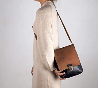 Borsa a tracolla in pelle nera, borsa a tracolla in pelle, borsa pelle donna, borsa in pelle artigianale, regalo da uomo, ...