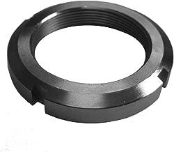 J.W. Winco KM-6 KM Bearing Lock Nut, M30 x 1.5 Thread, 45 mm OD, 7 mm Thickness, 5 mm Slot Width-2 mm Slot Depth (4)
