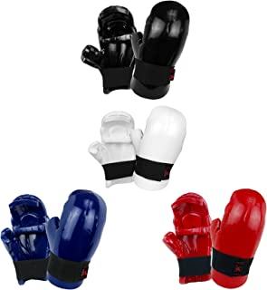 PROWIN1 Sparring Training Gloves Punches, Dipped Foam Martial Arts Hand Gear - Blue/Red/Black/White