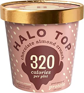 Halo Top, Chocolate Almond Crunch Ice Cream, Pint (4 Count)