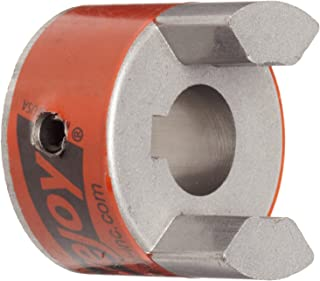 Lovejoy 41454 Size L070 Standard Jaw Coupling Hub, Sintered Iron, Metric, 12 mm Bore, 1.36