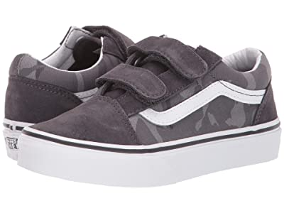 Vans Kids Old Skool V (Little Kid/Big Kid) ((Tonal Camo) Obsidian/True White) Boys Shoes